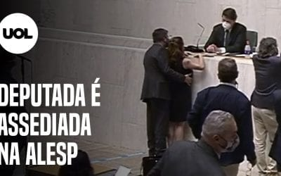 A Brasilian deputy touches another deputy without her consent
